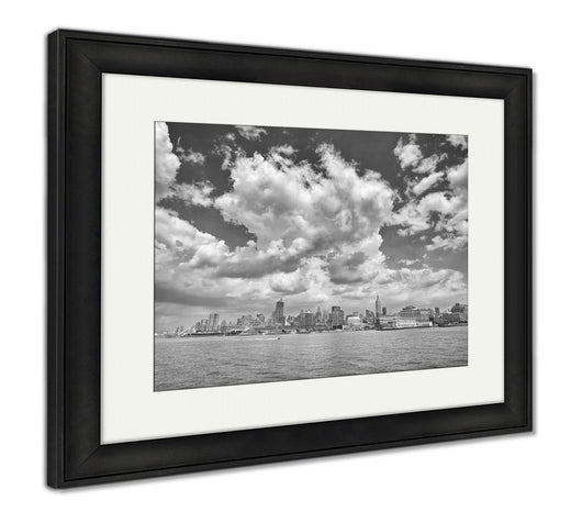 Framed Print, New York Black And White Picture Of Manhattan