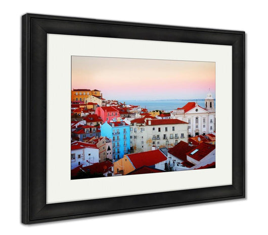 Framed Print, View Of Alfama Lisbon Portugal