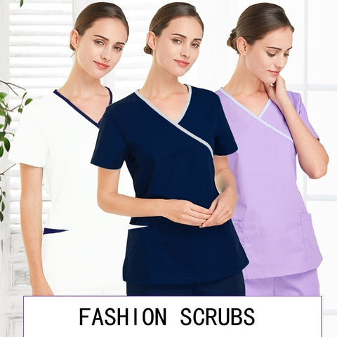 Women Fashion Scrub Tops