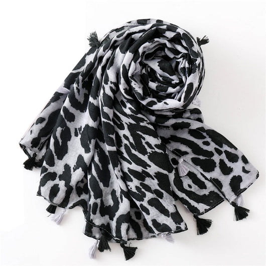 2019 Fashion Women Leopard Print Scarf