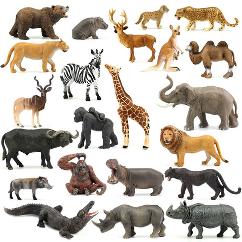 Genuine jungle wild Zoo animal sets