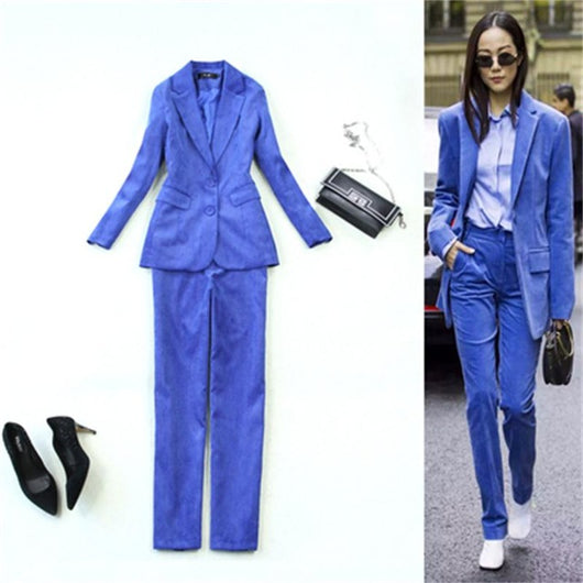 Fashion high-quality Royal corduroy suit