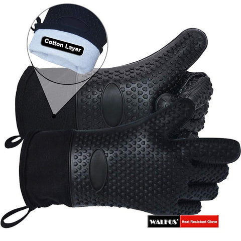 1 piece kitchen gloves-BBQ grill gloves