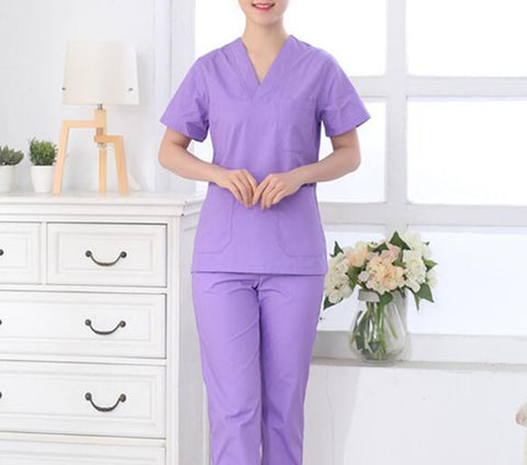 2016 autumn high quality hairdresser overalls hairdressing suit beauty salon work clothes medical scrubs women nurse uniform pha