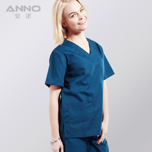 Hospital medical scrubs set medical uniform clothing for unisex  surgical clothing for classic V-neck with free shipping