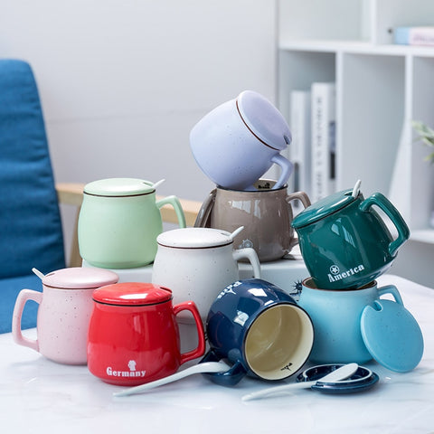 400 ML high-end ceramic coffee cup