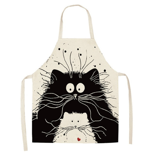 1 Pcs Cat Printed Apron
