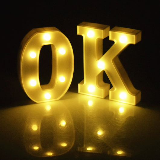 26 English Alphabet Led Light