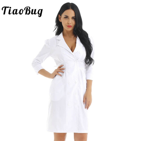TiaoBug Nurse Uniform Dress