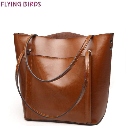 FLYING BIRDS Tote Genuine Leather Designer Brand Handbag LM4315fb