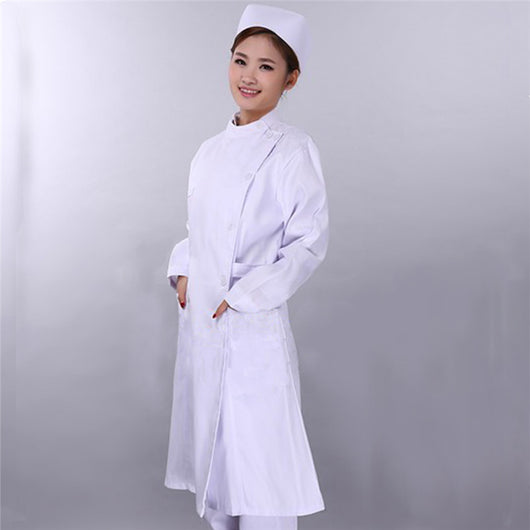 uniformes hospital nursing scrubs medical clothing lab coat White/doctor nurse overalls Medical/women work wear blouses fit
