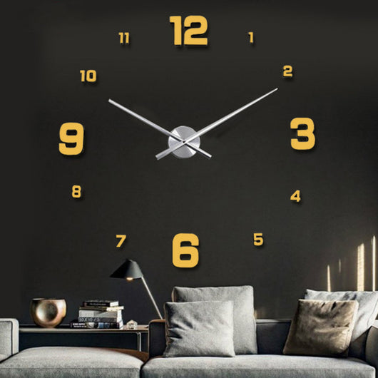 Promotion Home Decor Large Roman Mirror Fashion Modern Quartz Clocks Living Room DIY Wall Clock Watch 120cm * 120cm