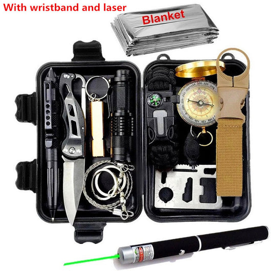 Military outdoor travel mini camping tools aid kit