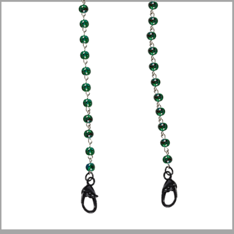 """Green With Envy"" Mask Chain"