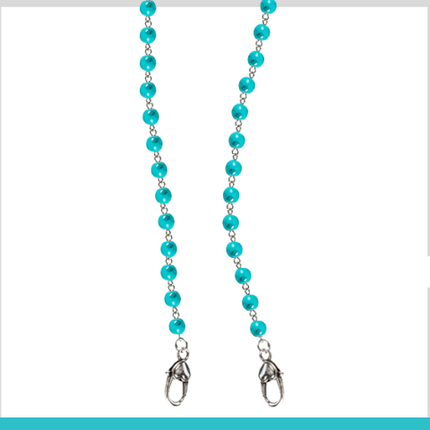 """Treasure-Me Turquoise"" Mask Chain"