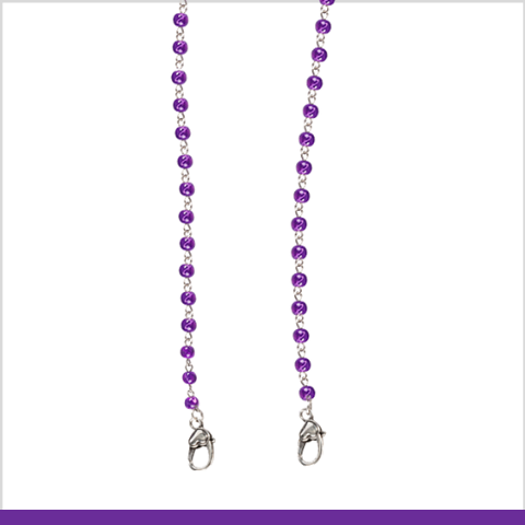 """Purple Passion"" Mask Chain"