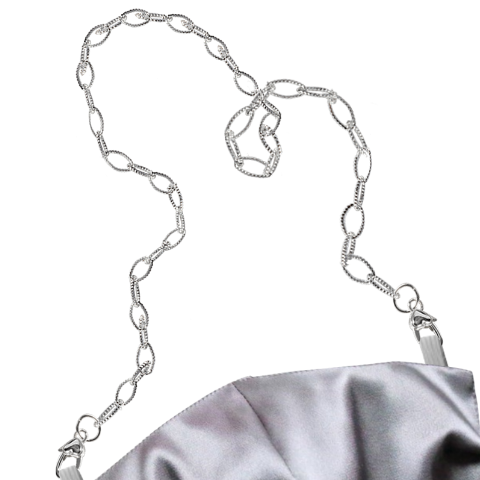 """Seduce-Me Silver"" Mask Chain"