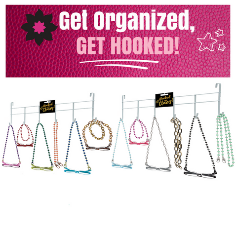 "Two ""Hooked on CLASSY"" Accessories Organizers"