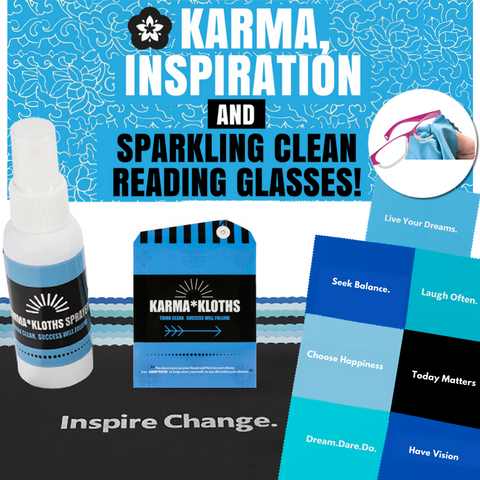 """KARMA"" Cleaning Cloths Plus Sprayer Bottle"