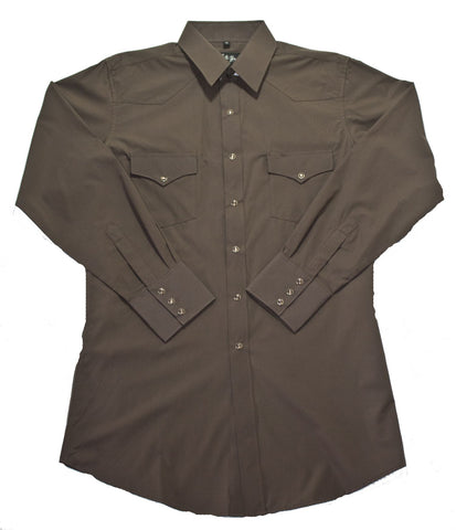 Mens Solid Chocolate<br> 111-1117X