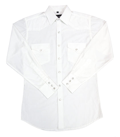 Mens Solid White<br> 111-1101X
