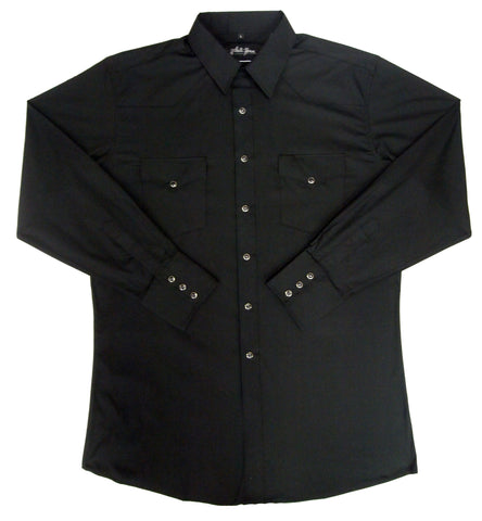 Mens Solid Black<br> 111-1102XB