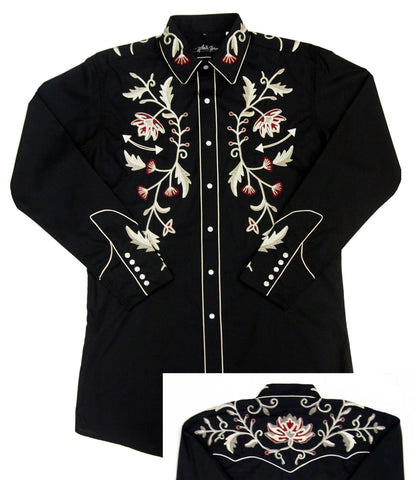 Mens Embroid Flower<br> 111-1216