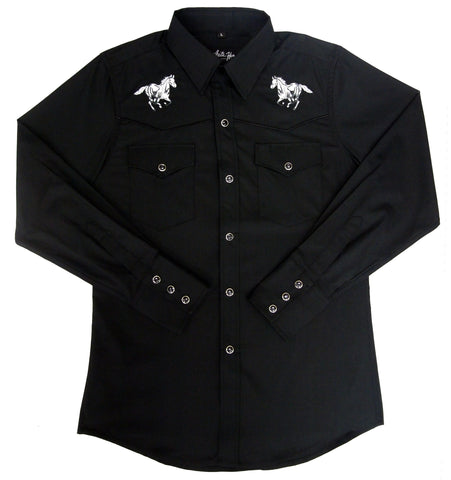 Mens Embroid Horse<br> 111-1238
