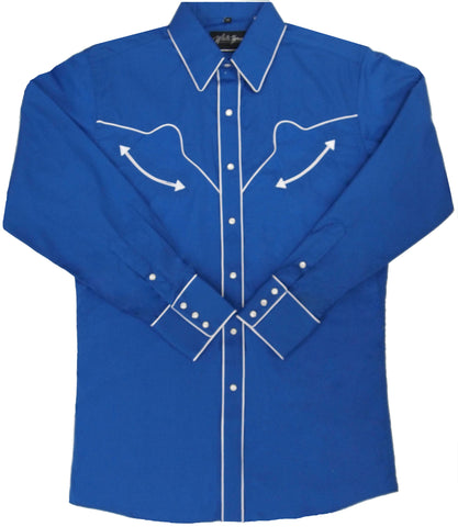 Mens Retro<br>Royal/Wht Piping <br>111-1354X