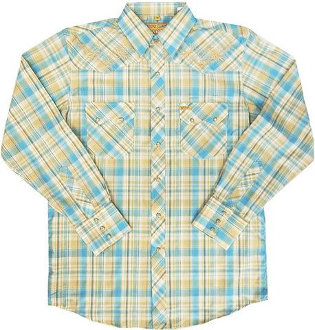 Mens Embroid Plaid<br> 134-1812X