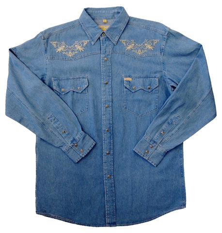 Mens Denim Embroidery<br> 172-1825