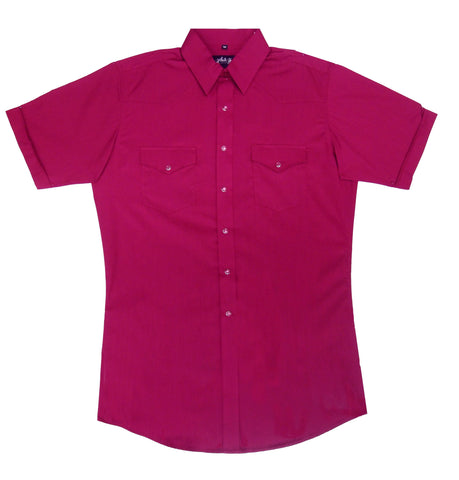 Mens  Solid Burgundy<br> 411-1111