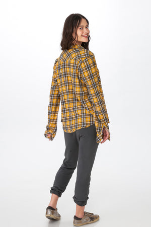 Load image into Gallery viewer, Yellow Plaid Shirt