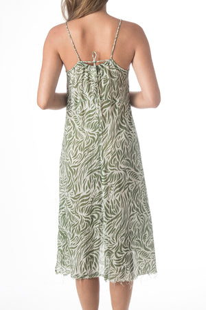 Load image into Gallery viewer, Printed Leaf Gauze Dress