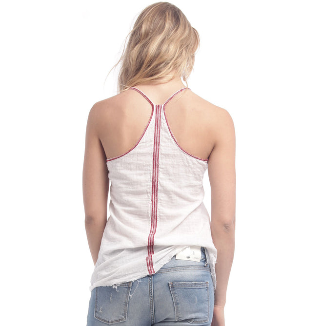 Embroidered Strap Tank
