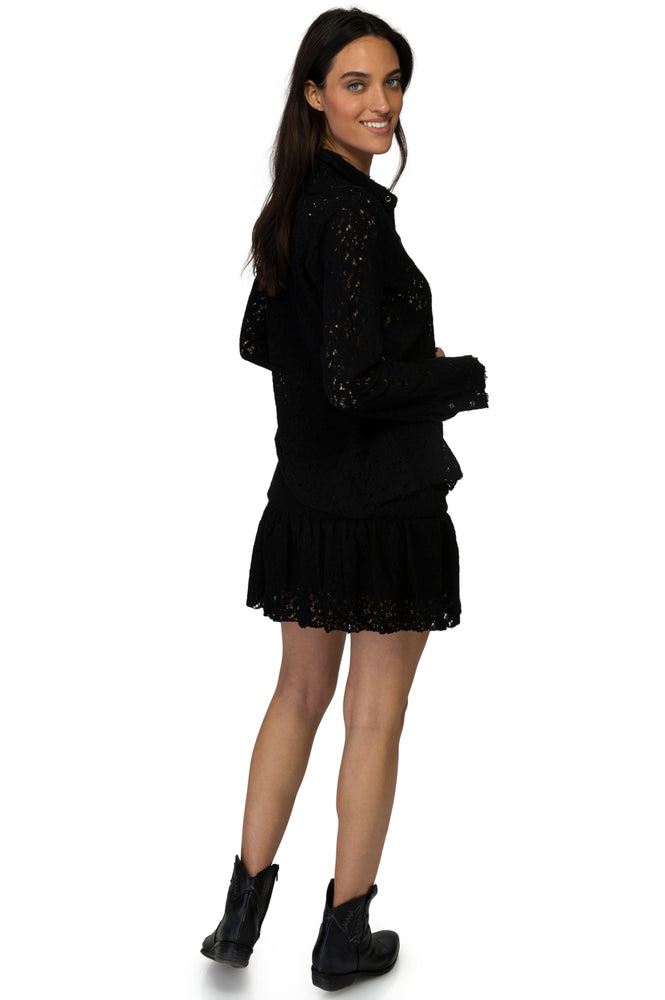 Load image into Gallery viewer, Black Lace Skirt