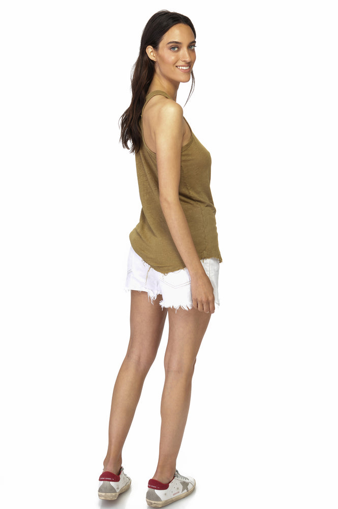 Load image into Gallery viewer, Coco Linen Racer Tank