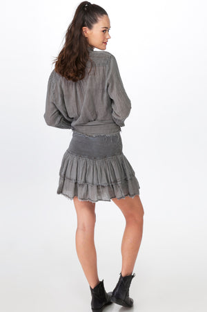 Load image into Gallery viewer, Grey Layered Skirt