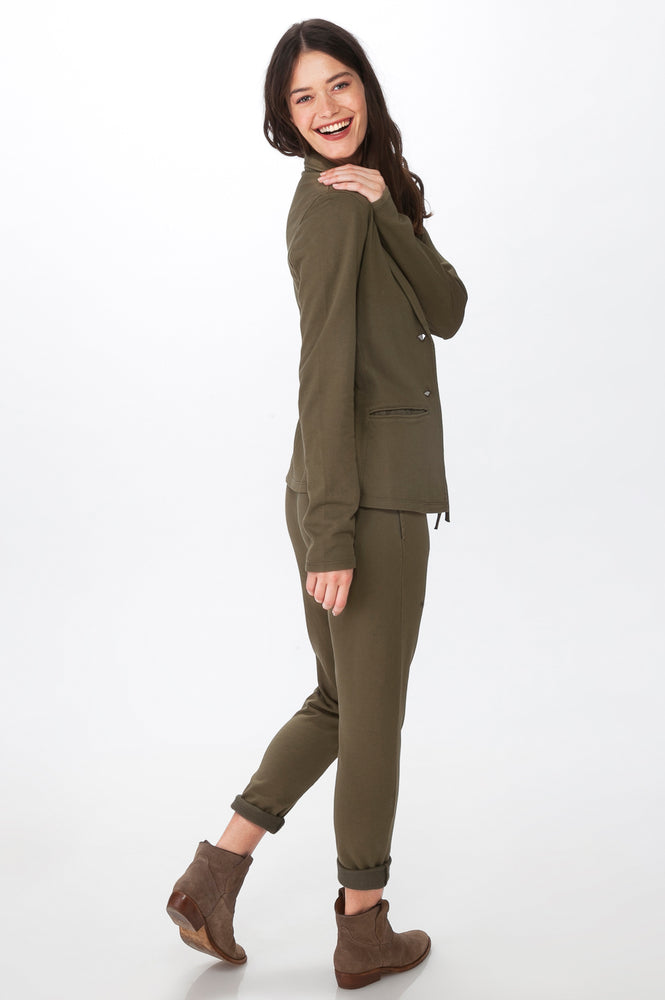 Load image into Gallery viewer, Olive Knit Blazer