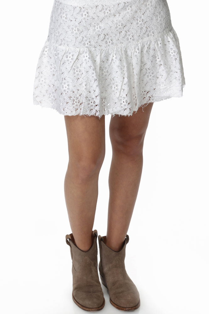 Load image into Gallery viewer, White Lace Skirt