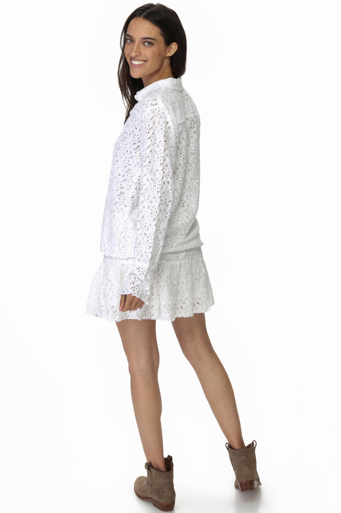 Load image into Gallery viewer, White Lace Blouse