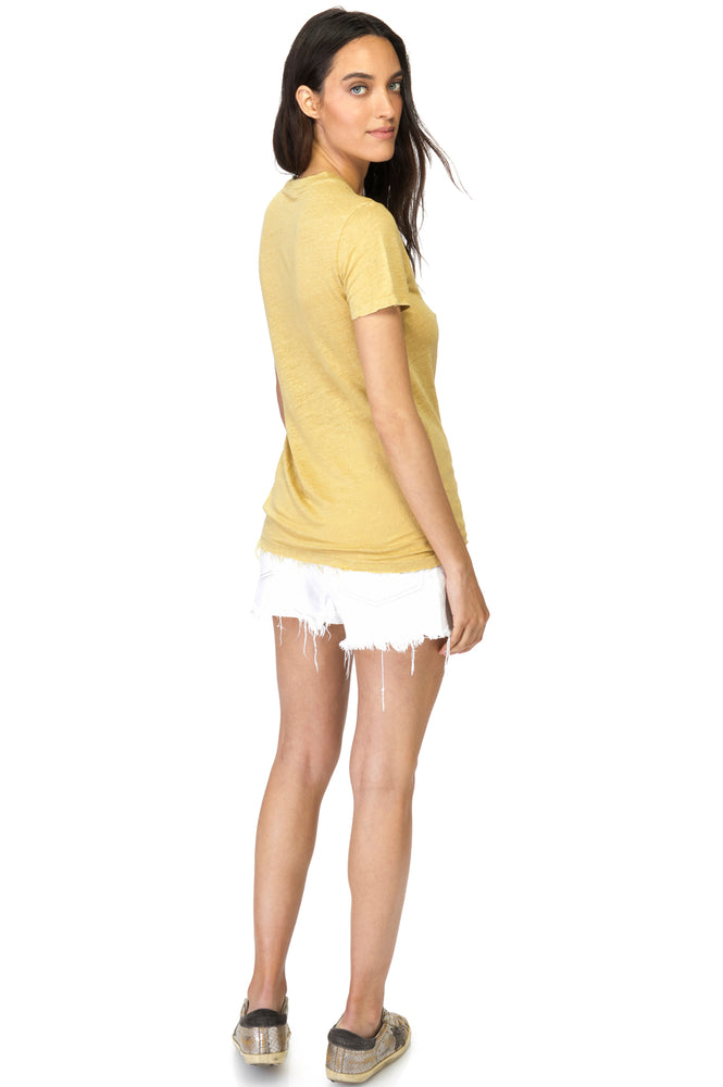 Load image into Gallery viewer, Sunflower Crew Neck Linen T-Shirt