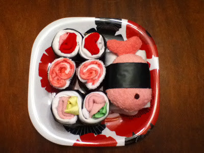 baby sushi plate