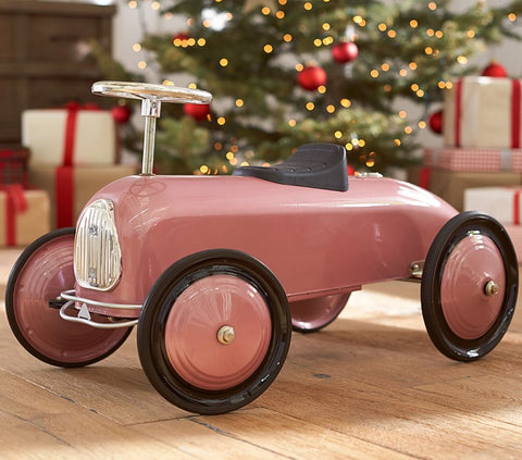 metallic pink race car kids toy
