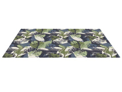 Navy Leaves Play Mat