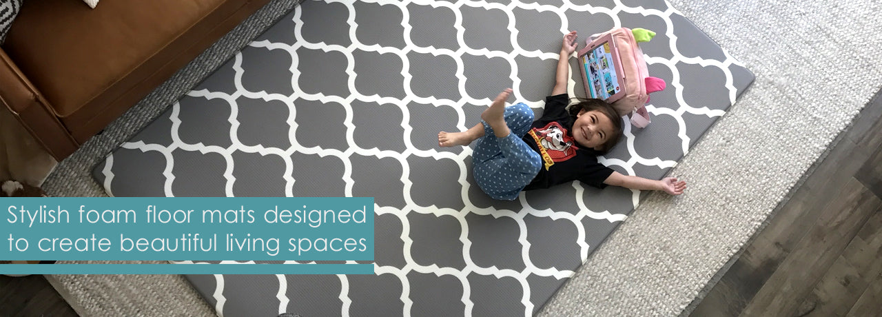 Our gorgeous play mats make your home more beautiful for play, work, and everyday living
