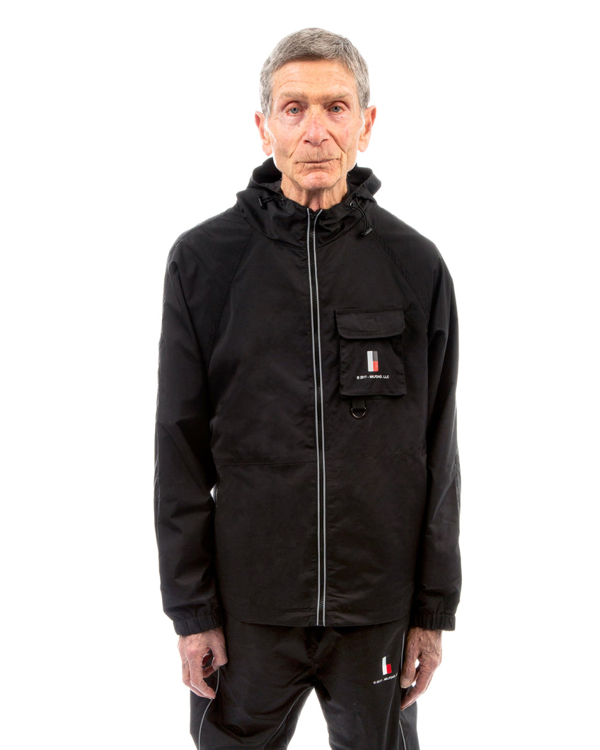 HOODED WIND JACKET - BLACK / 3M