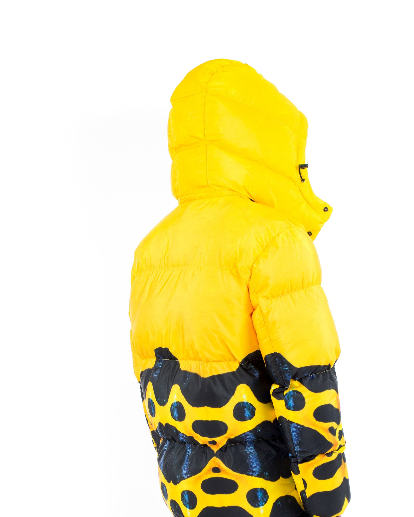 POISON PUFFER COAT - YELLOW / BLACK