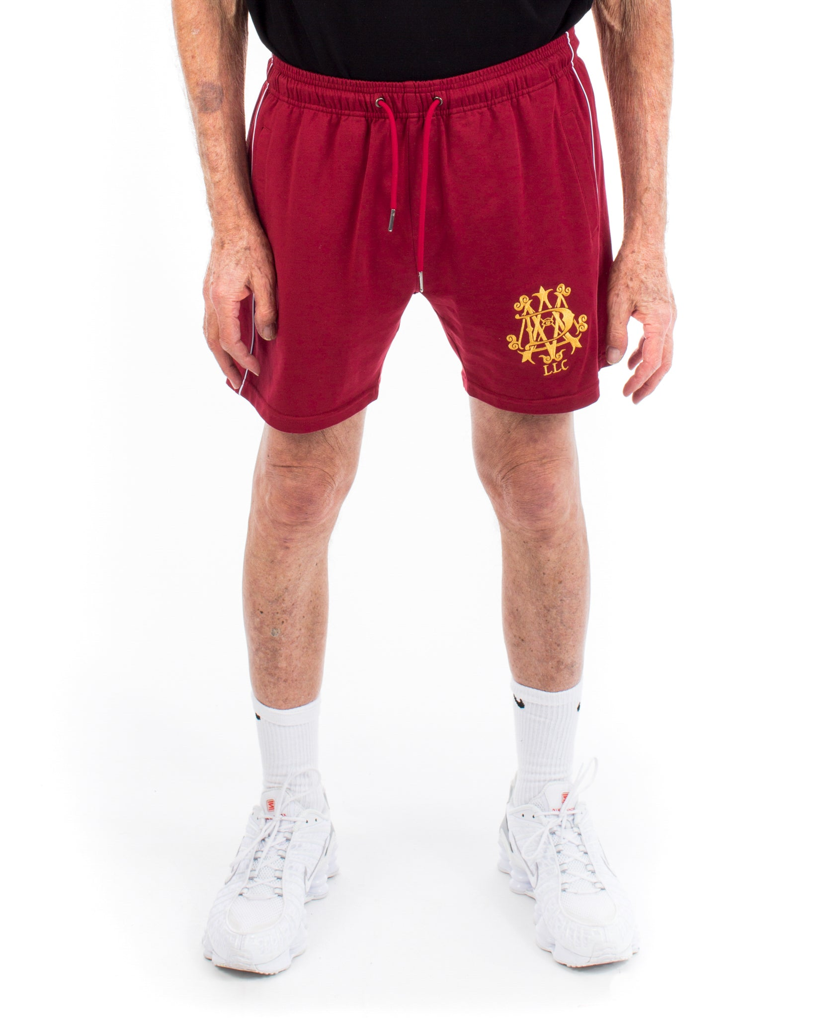 PIPING SHORTS - BURGUNDY