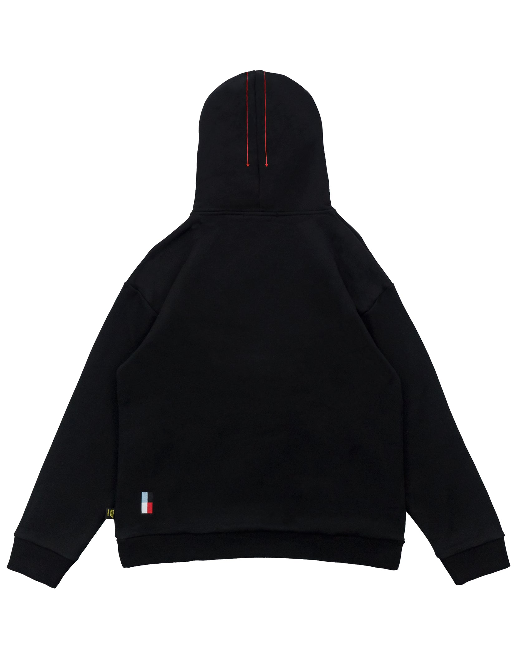 DIAGRAM HOODIE - BLACK / RED